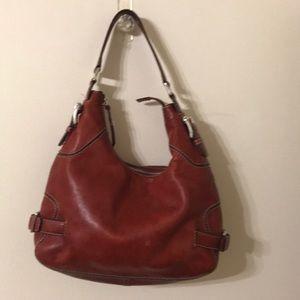 Red leather Michael kors handbag